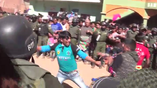 Screen capture of a video taken by Edgar Flores Marca in Macha, in the Potosí region, in early May 2017.