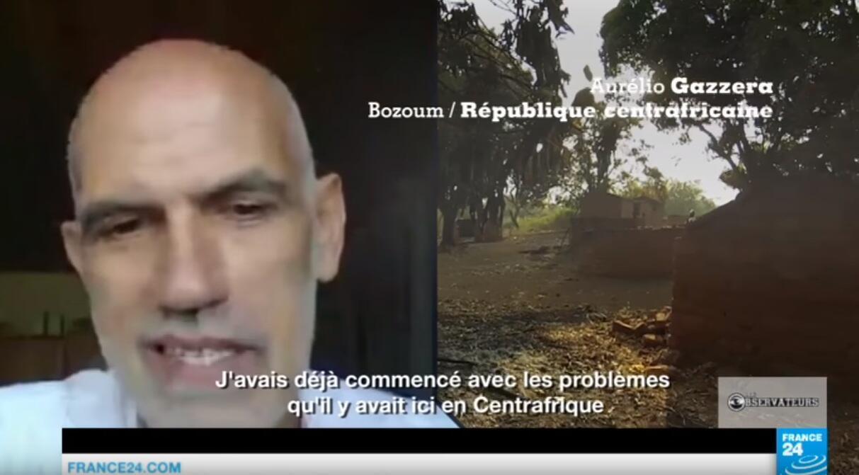 Le père Aurélio Gazzera a couvert grâce à sa caméra embarquée le conflit centrafricain dans la région de Bozoum... dans une zone où il n'y avait aucun journaliste.