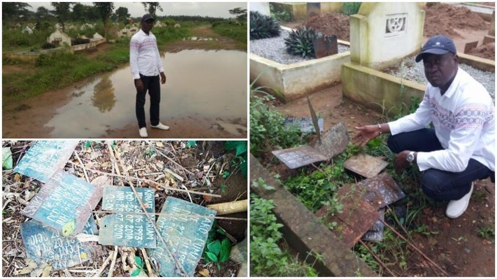 L'état du cimetière d'Abobo, à Abidjan, le 3 juillet 2019. Photos : Hamadou Sawadogo.