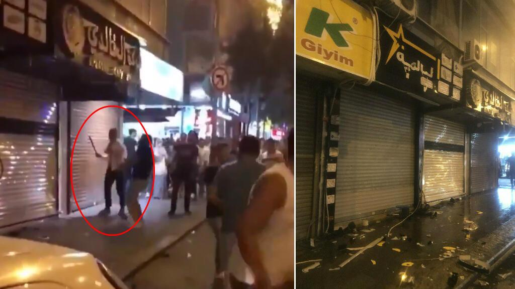 Un groupe d'hommes a violemment attaqué des commerces syriens dans le quartier Ikitelli à Istanbul, le 29 juin 2019.