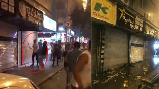 A group of men ransacked Syrian-owned businesses in the Ikitelli neighborhood in Istanbul on June 29, 2019.