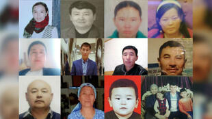 Photos of Kazakhs detained in Xinjiang, China, provided by the group Talpyn Zhastar, which helps families in Kazakhstan whose relatives are missing.
