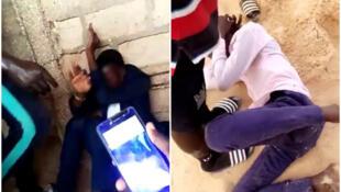 سمت راست عکس معلمی است که در تاریخ شش ژوئن در داکار مورد حمله قرار گرفت. سمت چپ نیز مردی را نشان می دهد که به او در تاریخ هفت ژوئن در ساحل داکار حمله شد.