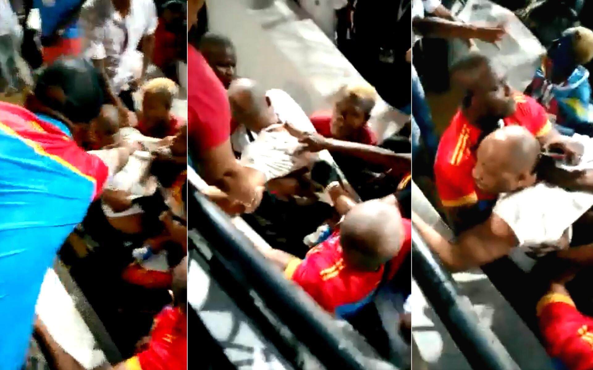 Un conseiller du ministère des Sports a été violenté par plusieurs supporters lors du match RDC-Madagascar en huitièmes de finale de la CAN-2019 le 7 juillet.