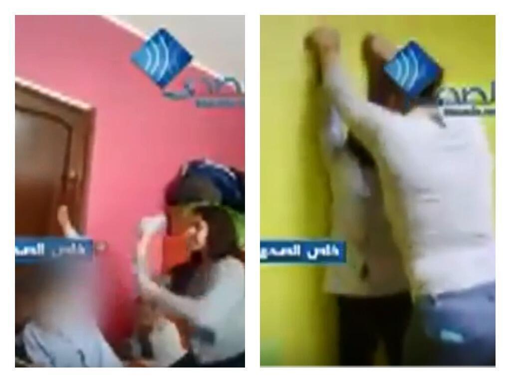 صورة ملتقطة من مقطع فيديو يعرض سوء معاملة أطفال مصابين بالتوحد في مركز رعاية في أريانة شمال تونس. تم نشر مقطع الفيديو في 18 شباط/فبراير 2018.