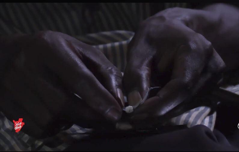 """Un des consommateurs de la drogue """"Boost"""" dont Yaga a recueilli le témoignage - Capture d'écran de la vidéo publiée sur la page Facebook de Yaga"""