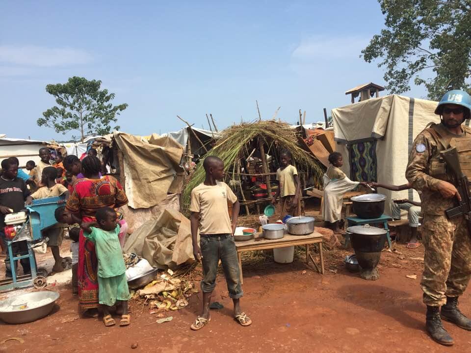 Les déplacés de Kaga-Bandoro. Photo envoyée par un Observateur.