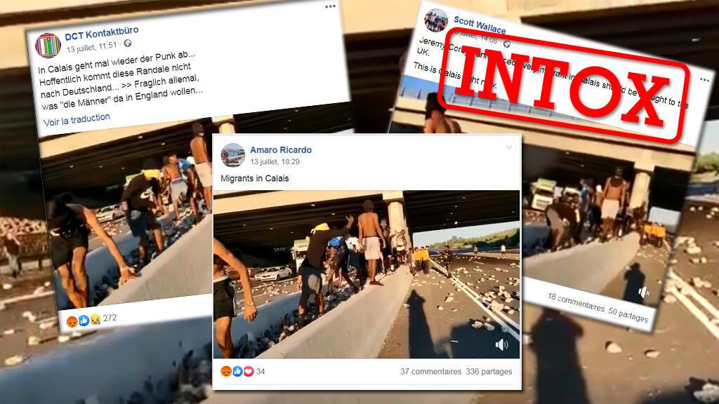کاربران شبکههای اجتماعی ویدئویی را با شرح اتفاقی که در شهر کاله فرانسه رخ داده است، منتشر کردند اما ماجرا اینگونه نیست.