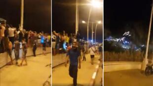 Scènes de liesse de part et d'autre de la frontière algéro-marocaine. Source: Facebook.