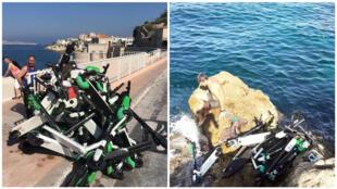 Photos prises à Marseille et publiées sur le compte Facebook d'Adrien Painchaud.