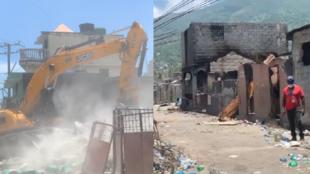 En Haïti, un bidonville du Cap-Haïtien entièrement rasé pour combattre des gangs. Images : Gérard Maxineau