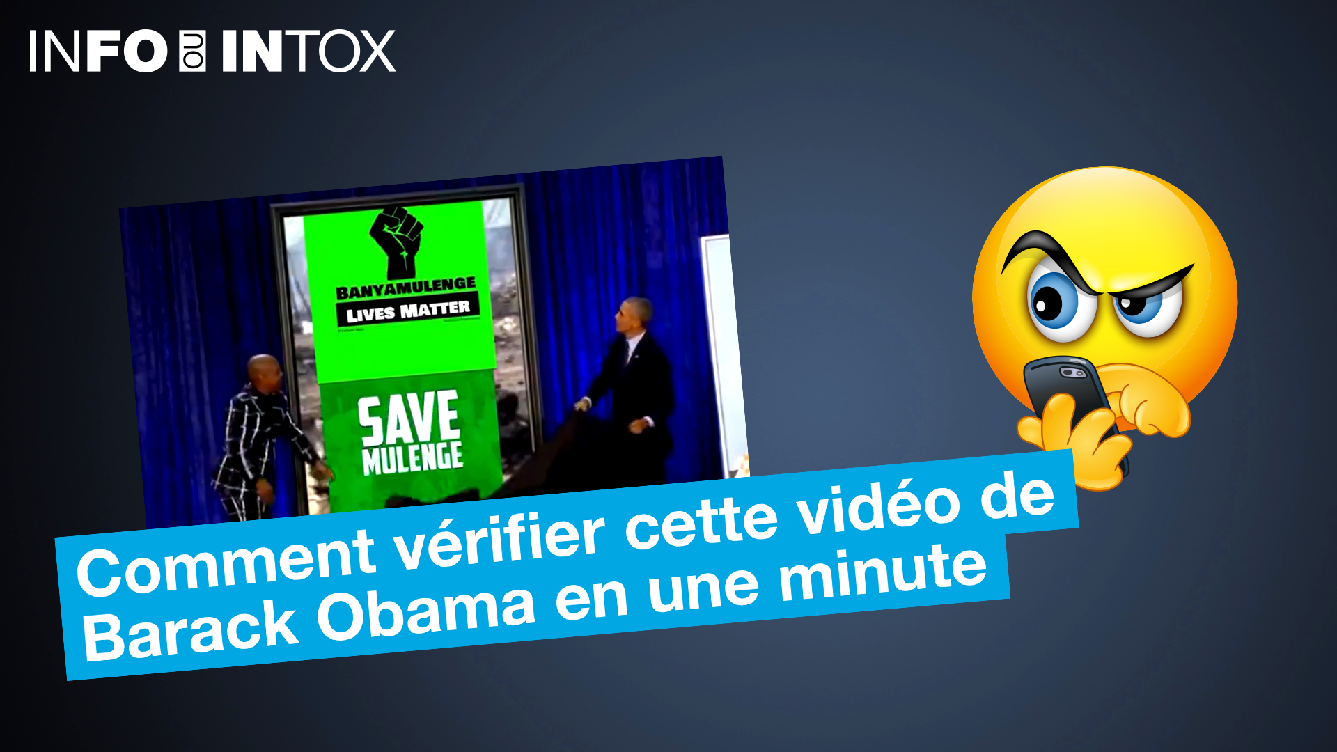 Barack Obama qui révèle une affiche de soutien aux Banyamulenge de RD Congo ?  On vous explique comment vérifier pas à pas cette vidéo.