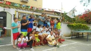In the Campo Grande neighbourhood on the outskirts of Rio, a resident organised a mini-Olympics for local kids.