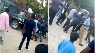 On June 22, a group of people from Nkhotakota started beating men suspected of posing as observers for the presidential election. (Video shared on Twitter)