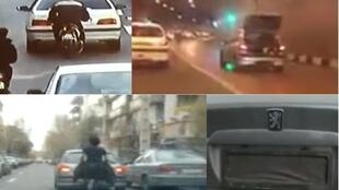 Drivers in the Iranian capital use a bewildering array of techniques to block detection by the city's 600 traffic cameras.