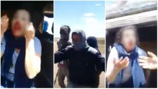 Captures d'écran de la vidéo de l'agression de la jeune étudiante, le 30 mai 2018 à Safi.