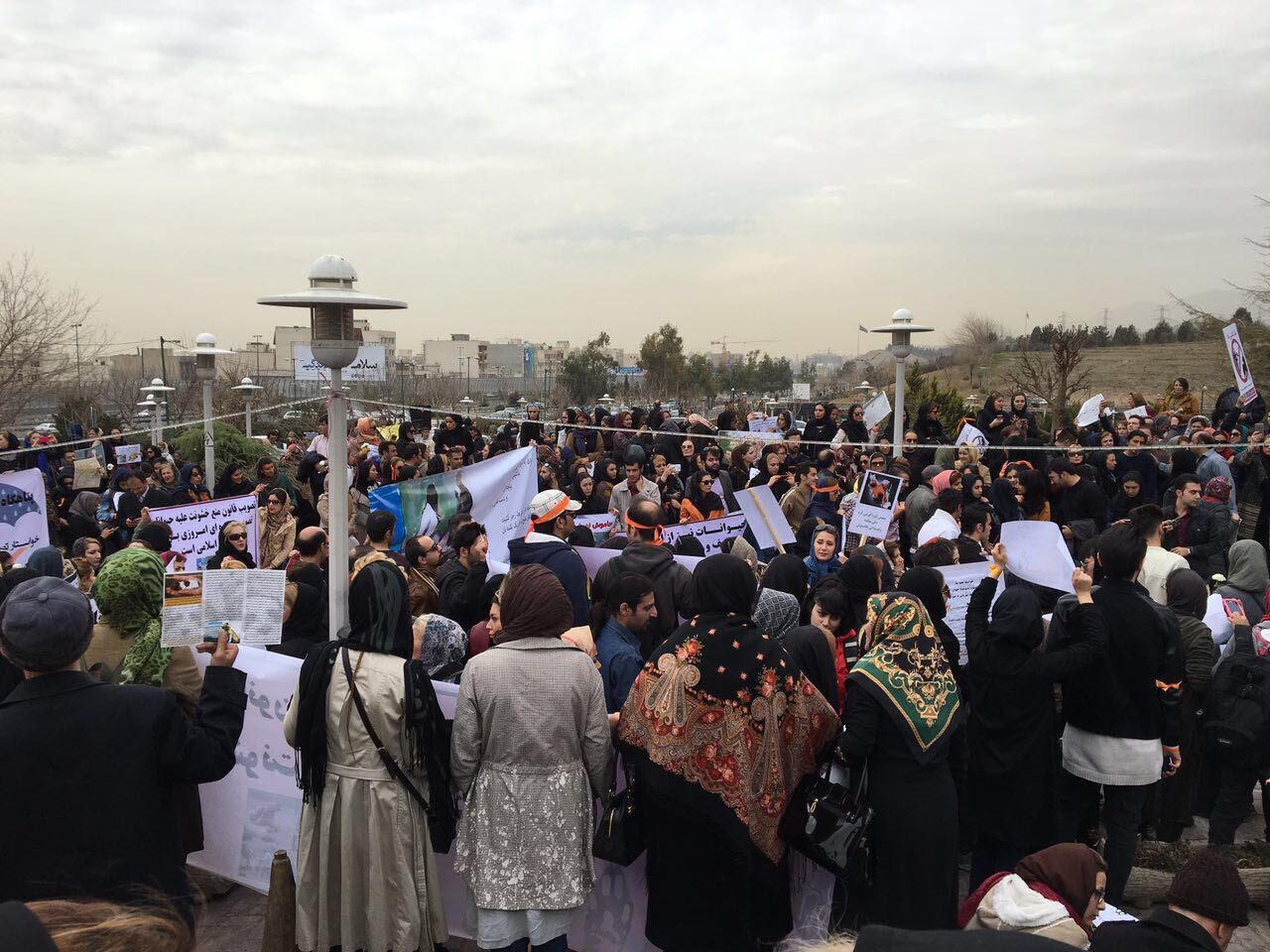 Manifestation à Téhéran pour demander l'adoption d'une loi contre les maltraitances animales.