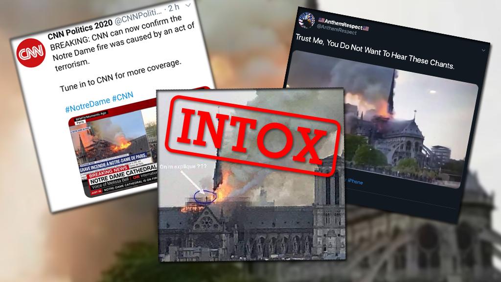 Plusieurs intox ont circulé autour de l'incendie de Notre-Dame le 15 avril. Voici quelques conseils émanant de ces exemples.