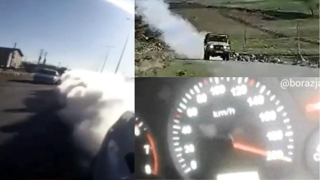 """مهربو """"شوتي"""" في إيران بمولّدات الدخان والقيادة بسرعة 200 كم / ساعة."""