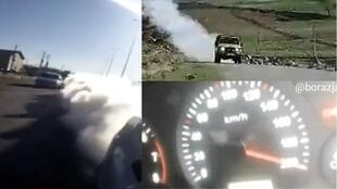 """Shoti"" smugglers in Iran with smoke machines and driving at 200 kph."