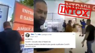 Cette vidéo a été relayée par des internautes pour prétendre qu'un député aurait mis à jour un hopital vide alors qu'il devait être plein de malades. Cette légende est erronée.