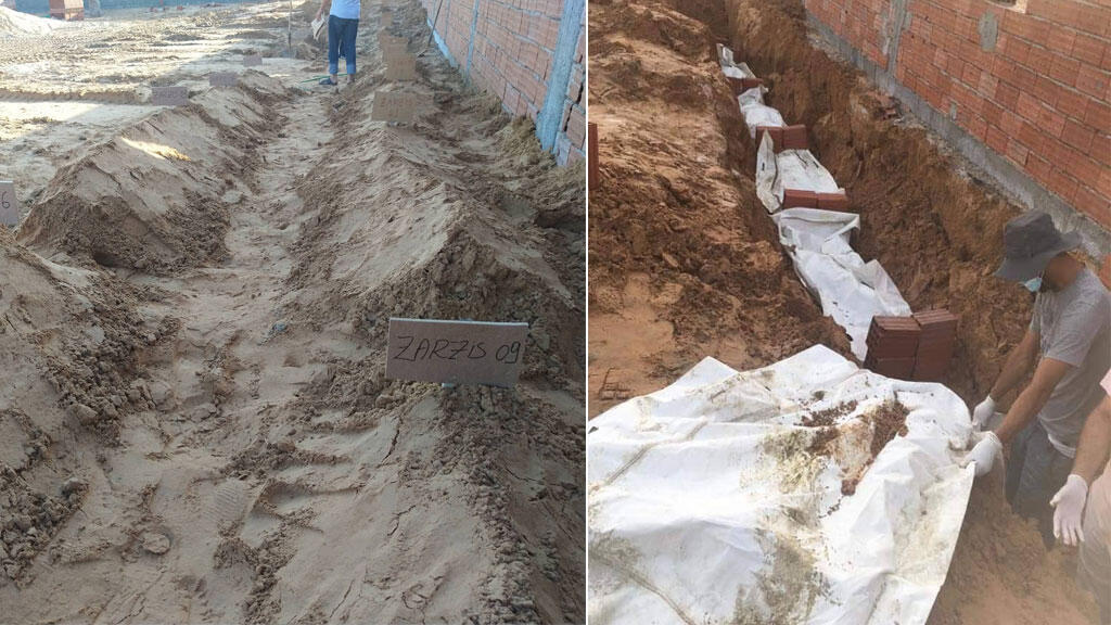 صور المقبرة الجديدة للمهاجرين في جرجيس أرسلها لفريقنا في التحرير مجدي شعلال.