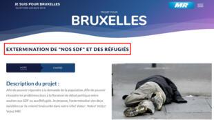 تصویر مقاله منتشر شده در سایت حزب حاکم بلژیک