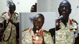 South Sudanese colonel Angui Karbino Kuanyin was filmed shooting himself in the mouth with a rifle and a handgun.