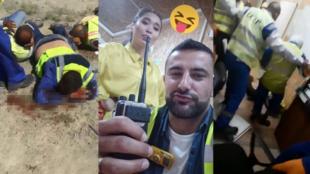 La photo d'un Libanais posant avec sa collègue kazakhe (au centre) a déclenché des violences entre locaux et exapatriés à sur le site de CCC à Tengiz le 29 juin.