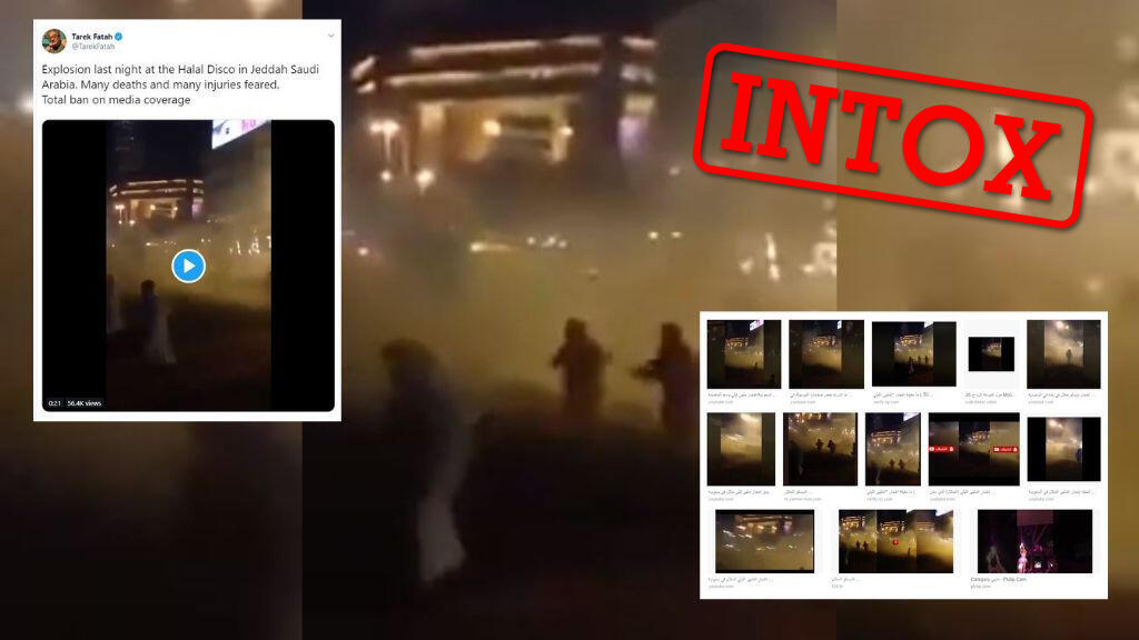 """Une vidéo a été présenté comme une attaque de le discothèque """"halal"""" ayant fait débat en Arabie Saoudite."""