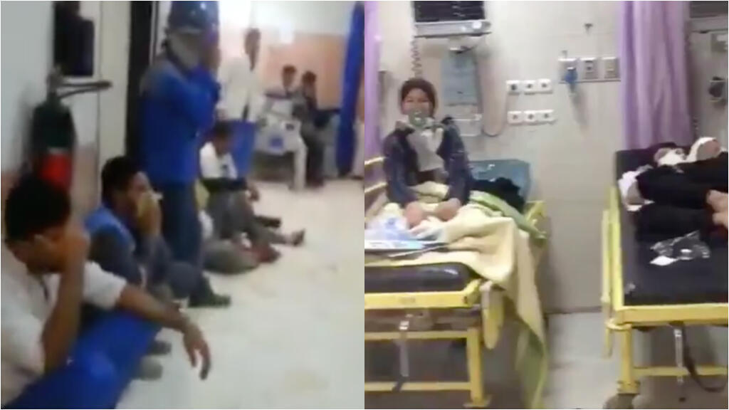 In a hospital in Mashhad (in the northeast), a city that has been particularly affected by the second wave.