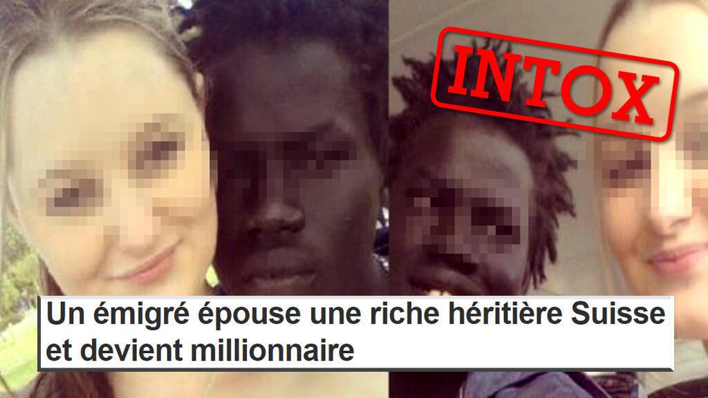 L'image de ce jeune couple inter-racial a beaucoup circulé pour raconter une jolie histoire... mais totalement fausse.