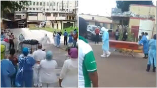 Captures d'écran de vidéos relayées par le compte Twitter de l'ONG Médicos Unidos Venezuela.