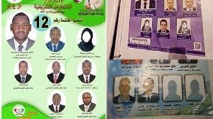 """Des """"femmes fantômes"""" apparaissent sur certaines affiches électorales."""