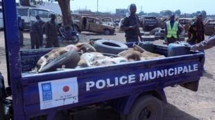 L'opération de police a débuté le 25 février dernier. Photos Noufou Kindo, avec l'aimable autorisation de Burkina 24.
