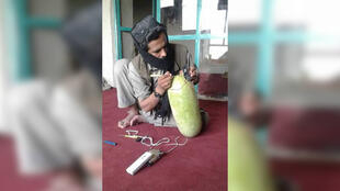 Photos of new Taliban tactic: the watermelon bomb. Photos sent by our Observer.