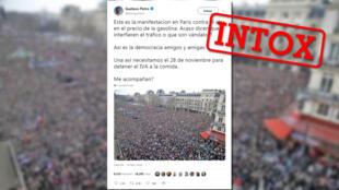 Un politicien colombien a partagé une photo prétendant montrer des milliers de gens dans les rues contre la hausse du prix du carburant. Raté : la photo date de 2015.
