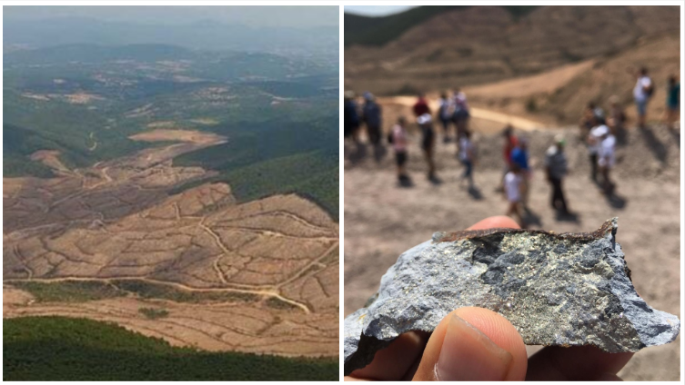 Photo on the left from Twitter, photo on the right sent by our Observer.