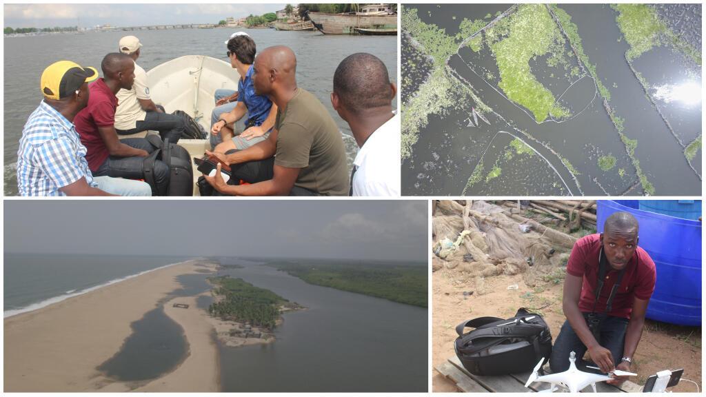 Sur le lac Nokoué, et sur le littoral béninois, l'ONG Bees parvient à sensibiliser les autorités grâce à ses drones.
