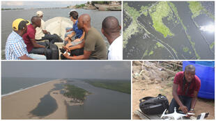 BEES, an NGO, takes authorities on a tour of Nokoué Lake and along Benin's coastal regions to raise awareness about the environmental impacts of fishing and worsening erosion.  à ses drones.