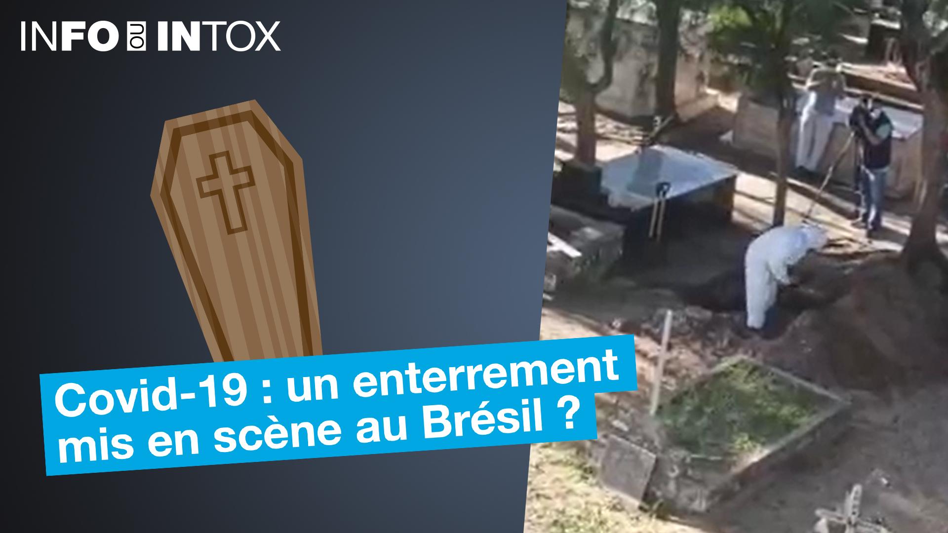 Alors que la crise sanitaire s'accentue au Brésil, une vidéo accuse les journalistes de fabriquer des reportages sur de faux enterrements.