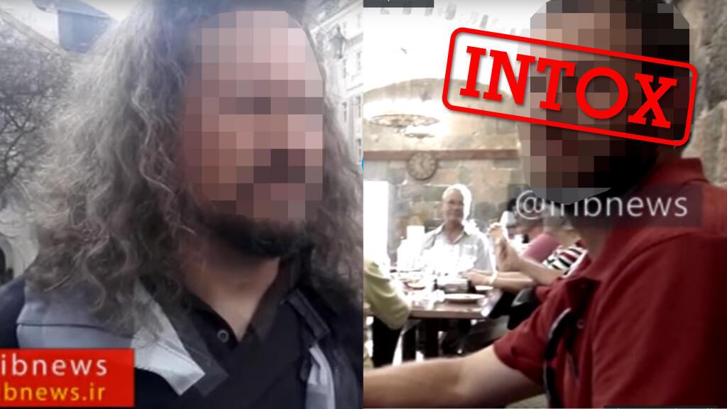 """Capture d'écran du documentaire """"Hunting Spies"""" diffusé sur la chaine iranienne """"PressTV"""" et affirmant avoir identifié des agents de laCIA en Europe et Asie."""
