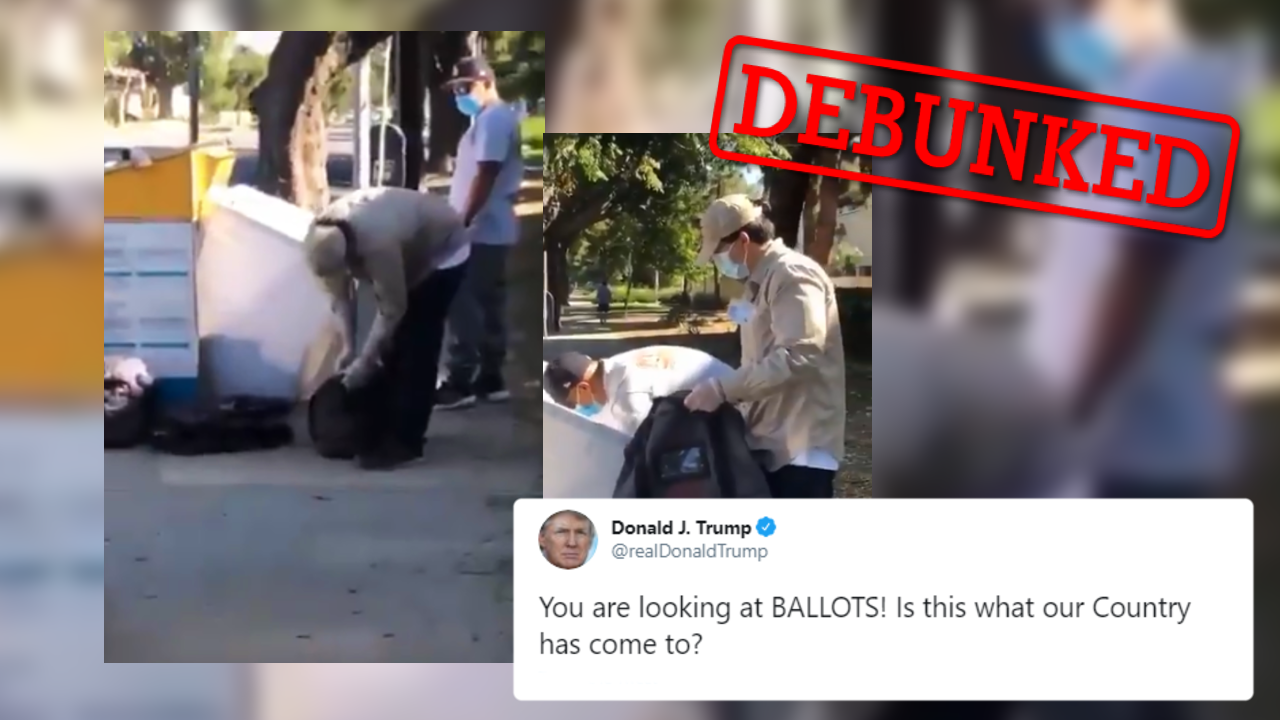 US President Donald Trump shared this video on November 11 that claims to show uncounted ballots in California. But what does this video really show?