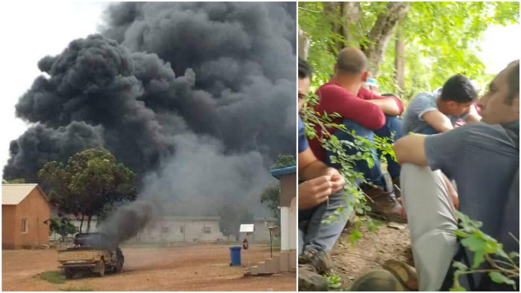 Gold mine employees used WhatsApp to send these photos to the France 24 Observers team.