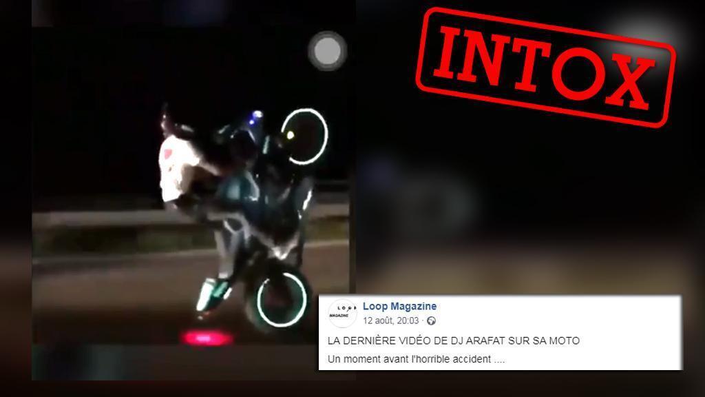 """Selon plusieurs internautes, cette vidéo montrerait les """"derniers moments"""" de DJ Arafat avant son accident. C'est une intox !"""