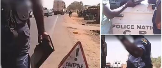 Screen grabs from a video fimed with a hidden camera by a journalist in Burkina Faso.