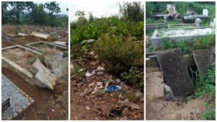 Tombes dans le cimetière de Yopougon, commune de l'ouest du district d'Abidjan. Photo prise par notre Observateur.