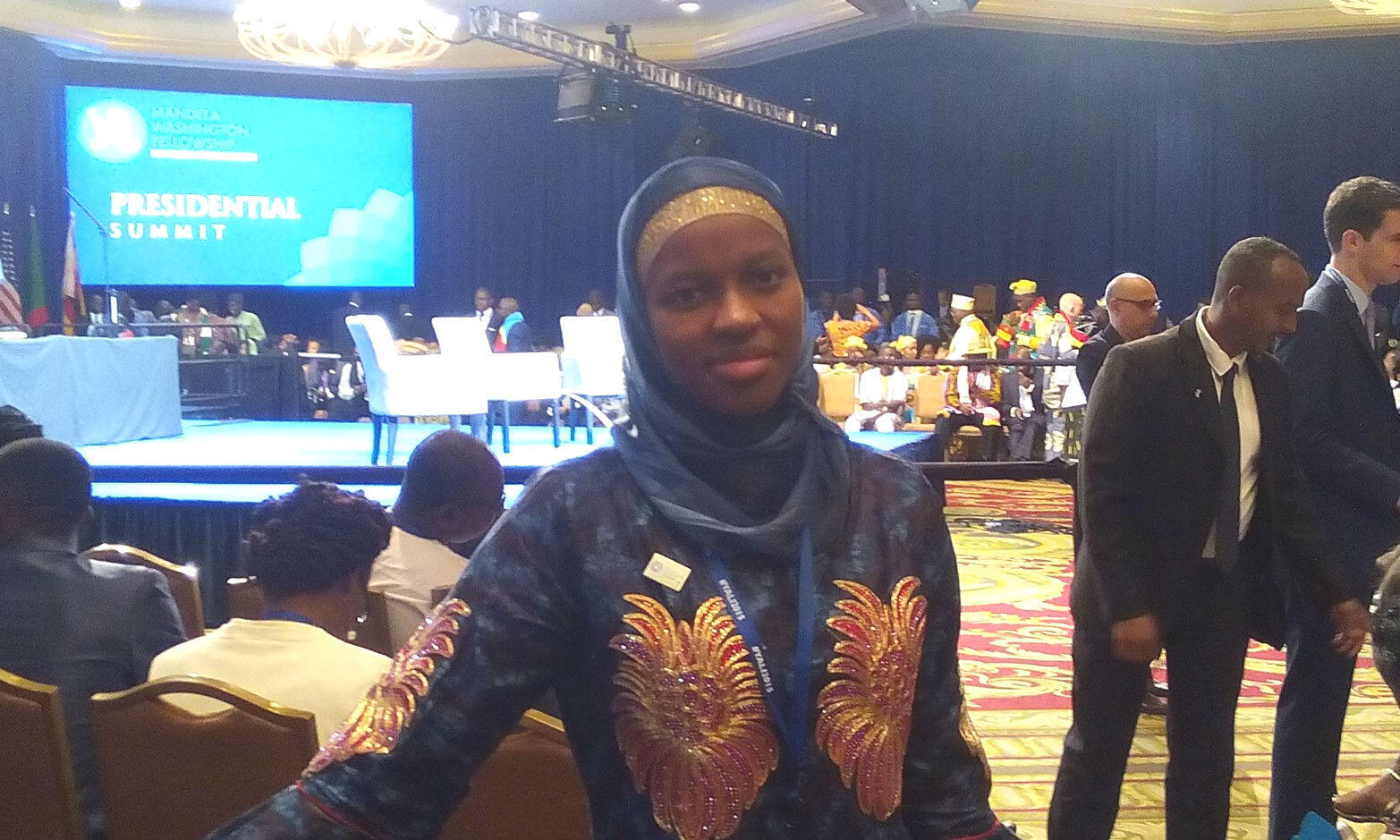 Kadijah Diallo, le jour du discours du président américain à Washington, le 3 août 2015. Toutes les photos ont été envoyées par Kadijah Diallo.