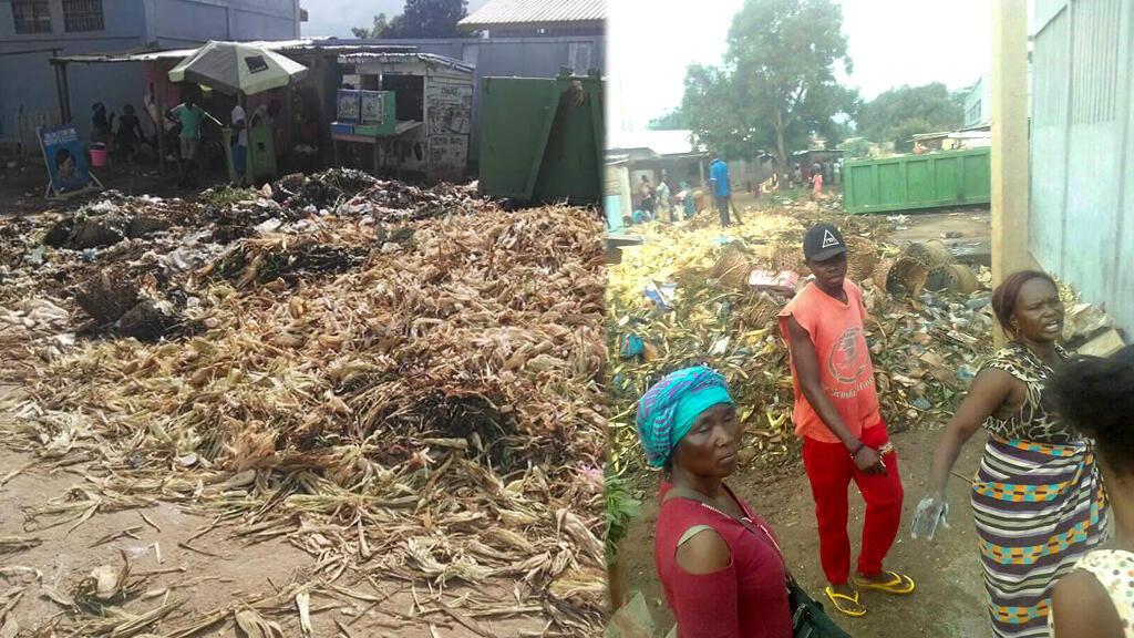 Photos prises par Arnold Zemoniako dans le marché de Bimbo, près de Bangui.