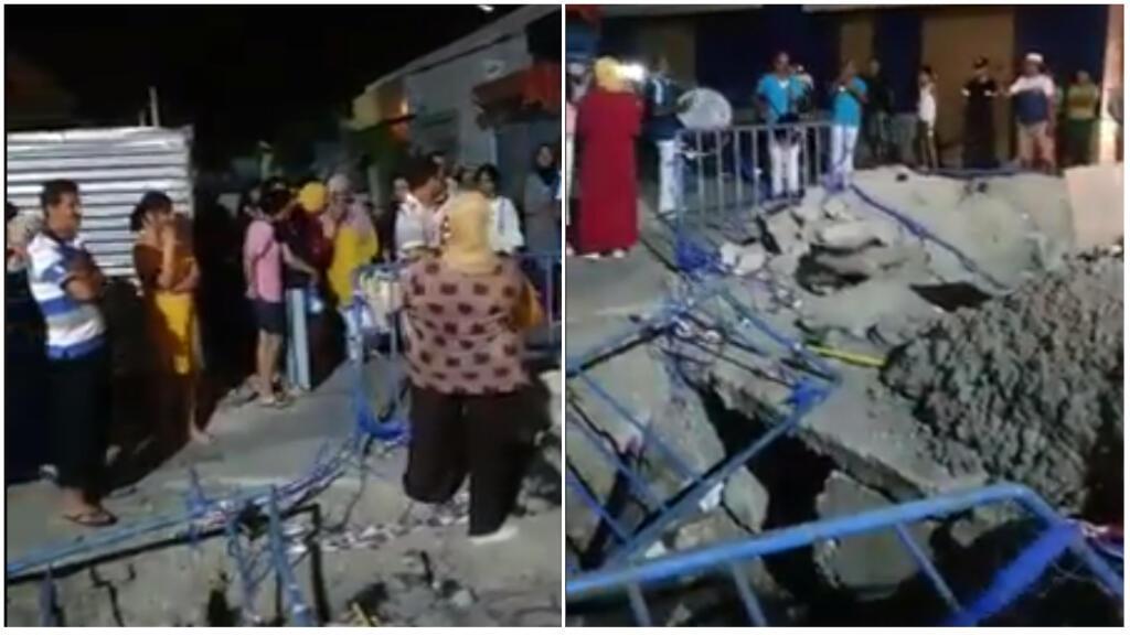 """تونسيون يقيمون """"عيد الحفرة"""" للتنديد بتعليق ورشة أشغال عمومية"""